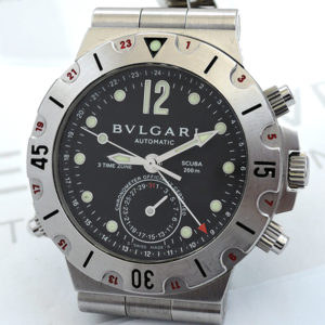 BVLGARI ディアゴノスクーバ SD38S GMT ダイバーズ 自動巻 【委託時計】