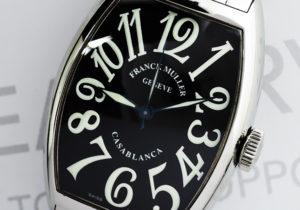FRANCK MULLER カサブランカ 5850 黒 SS 保証書有 【委託時計】