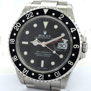 ROLEX GMTマスター2 16710 P番 黒ベゼル 保証書有 【委託時計】