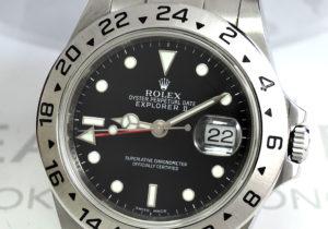 ROLEX エクスプローラ2 16570 M番 黒文字盤 ルーレット刻印 保証書有 【委託時計】