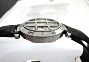Cartier パシャ38mm グリット W3104055 自動巻 腕時計 メンズ SSx黒革 シルバー文字盤 【委託時計】