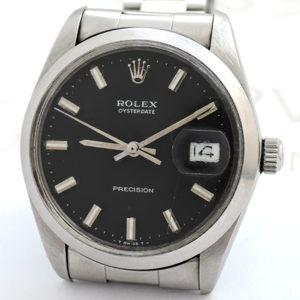 ROLEX オイスターデイト 6694 5~番 SS 黒文字盤 アンティークモデル 【委託時計】