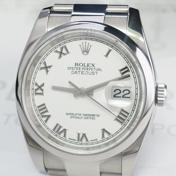 ROLEX デイトジャスト 116200 ランダム ホワイトローマン 保証書有 2015年 国内正規 【委託時計】