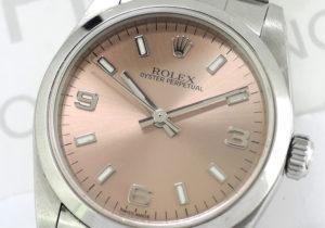 ROLEX オイスターパーペチュアル 77080 K番 ボーイズ 自動巻 ピンク369 【委託時計】