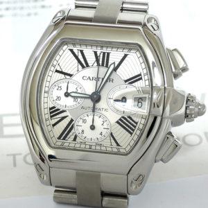 Cartier ロードスター W62019X6 自動巻 クロノグラフ メンズ腕時計 【委託時計】