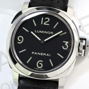 PANERAI ルミノールベース PAM00112 手巻き SSx黒革 バックスケルトン 【委託時計】