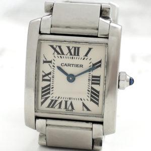 CARTIER タンクフランセーズSM W51008Q3 レディース時計 クォーツ 【委託時計】