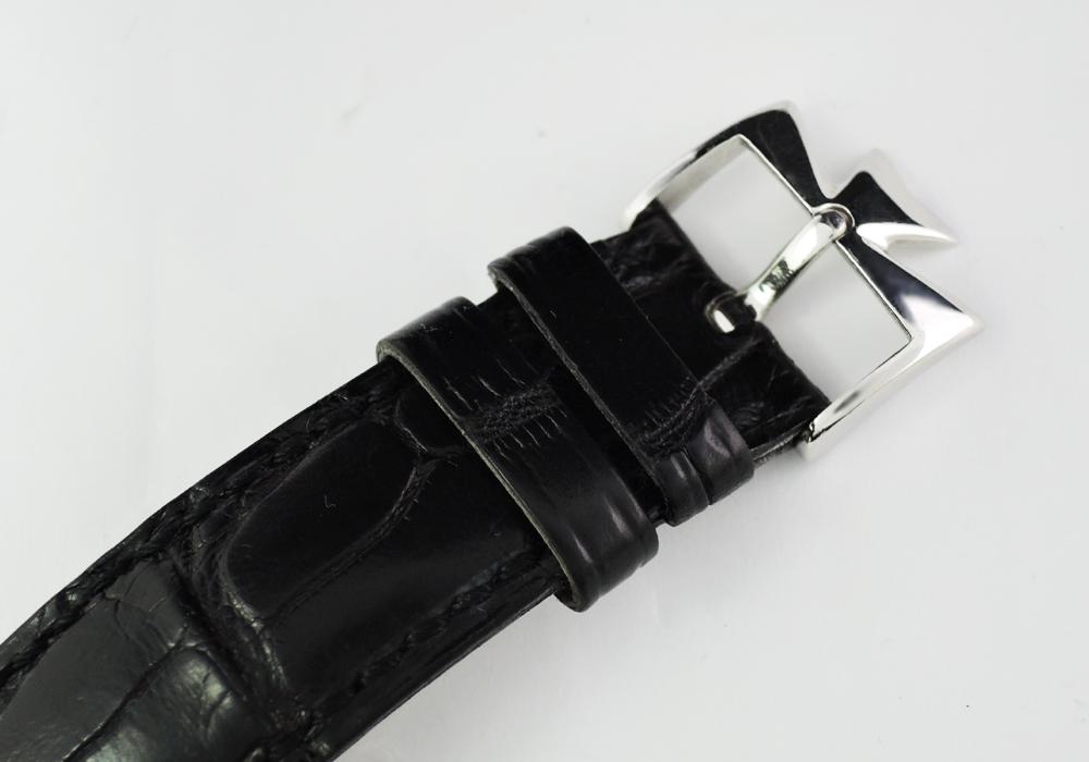 VACHERON CONSTANTIN スケルトンクロノ 47102 手巻 プラチナx革 ヴァシュロン【委託時計】
