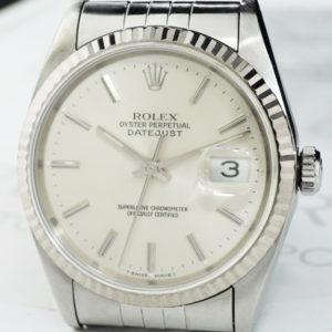 ROLEX デイトジャスト 16234 Ⅹ番 18KWGxSS シルバーダイヤル OH済 【委託時計】