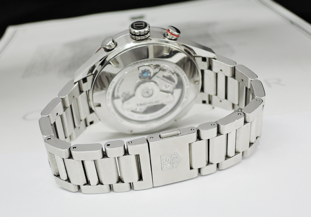 TAG HEUER カレラ キャリバー1887 CAR2A11 メンズ  自動巻 クロノグラフ グレー文字盤 【委託時計】