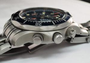 OMEGA シーマスター 2298.80 プロフェッショナル 300 クロノグラフ 腕時計 チタン 青文字盤 【委託時計】
