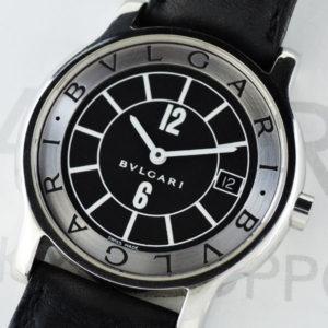 BVLGARI ST35S ソロテンポ クォーツ デイト 黒文字盤 【委託時計】