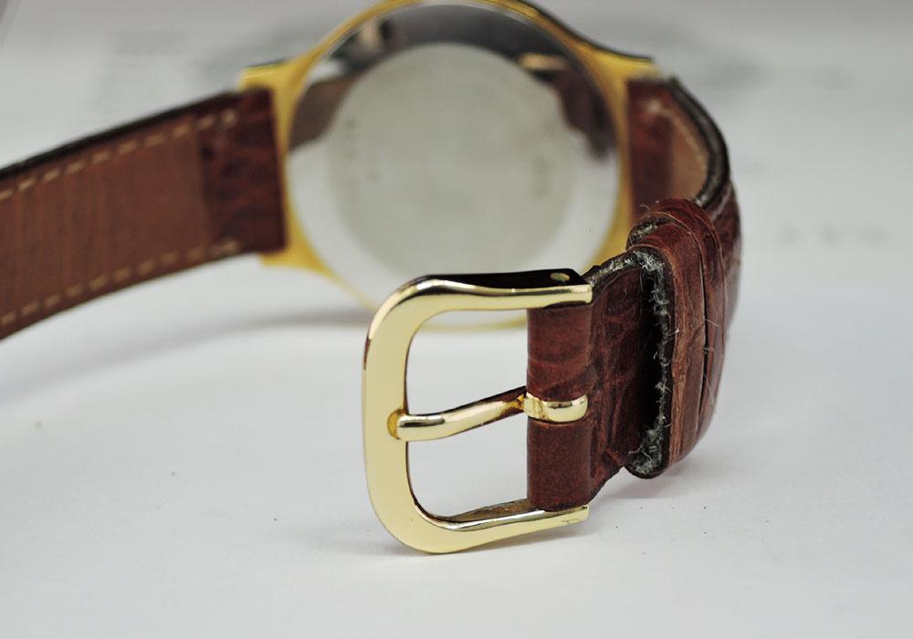 LONGINES 手巻き メンズ シャンパン文字盤 社外ベルト 【委託時計】