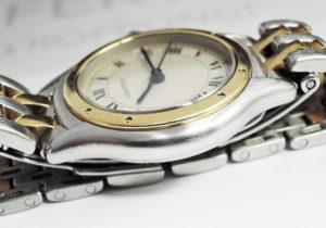 Cartier パンテール クーガ 2ロウ SS 18K イエローゴールド クオーツ時計 レディース 【委託時計】