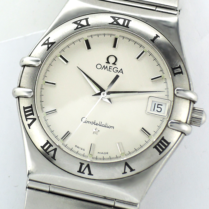 OMEGA コンステレーション 1512.30 SS 男性用 白文字盤 クォーツ 【委託時計】