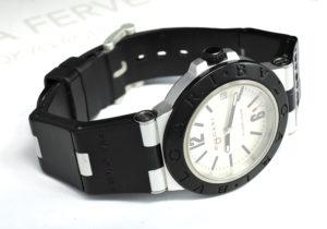 BVLGARI アルミニウム クロノグラフ AL38TA メンズ腕時計 自動巻 【委託時計】
