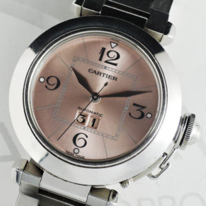 Cartier パシャ 2475 自動巻 腕時計 レディース SS ピンク文字盤 【委託時計】
