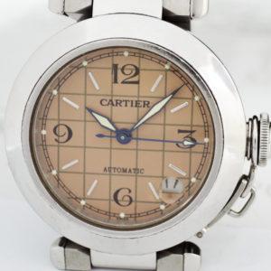 Cartier パシャC メリディアン 2324 自動巻 腕時計 レディース SS ピンク文字盤 【委託時計】