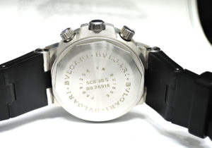 BVLGARI ディアゴノ スクーバ SCB38S クロノグラフ 自動巻 黒文字盤 【委託時計】
