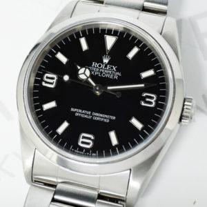 ROLEX エクスプローラ1 Ref.14270 W番 自動巻 保証書付 メンズ腕時計 【委託時計】