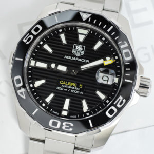 TAG HEUER アクアレーサー300m キャリバー5 WAY211A.BA0928 黒文字盤 メンズ腕時計 自動巻 06/2017保証書 【委託時計】