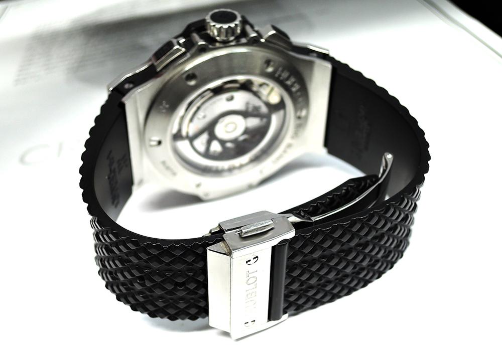 HUBLOT ビッグバン 301.SB.131.RX ステンレス ラバー 自動巻 セラミック メンズ腕時計 シースルーバック 【委託時計】