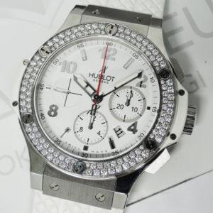 HUBLOT ビッグバン 301.SE.230.RW.114 ステンレス ラバー 自動巻き ダイヤモンド メンズ腕時計 保証書 【委託時計】