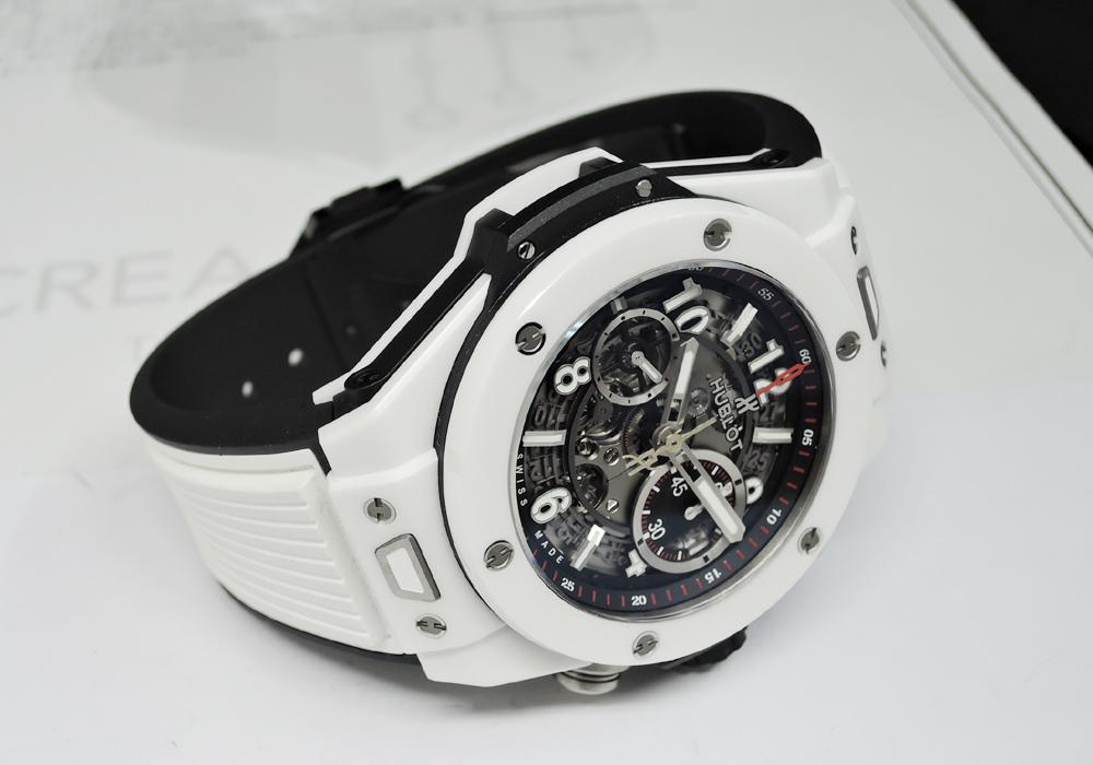 HUBLOT ビッグバン ウニコ ホワイトセラミック 411.HX.1170.RX ラバー 自動巻き メンズ腕時計 保証書 【委託時計】