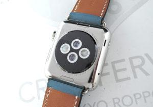HERMES アップルウォッチ ユニセックス腕時計 スマートウォッチ 充電式 エルメスベルト ブルー 保証書 【委託時計】