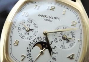 PATEKPHILIPPE グランドコンプリケーション 5940J-001 パーペチュアルカレンダー K18イエローゴールド クロコベルト 自動巻 メンズ腕時計 シルバー文字盤 【委託時計】