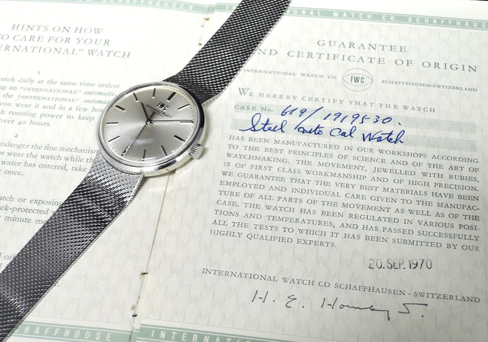 シャフハウゼン クロノグラフ SS 手巻 保証書有 メンズ腕時計 【委託時計】