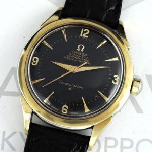 OMEGA コンステレーション 黒文字盤 自動巻 SS メンズ腕時計 【委託時計】