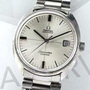 OMEGA シーマスター コスミック 166026 メンズ腕時計 デイト 自動巻 シルバー文字盤 【委託時計】