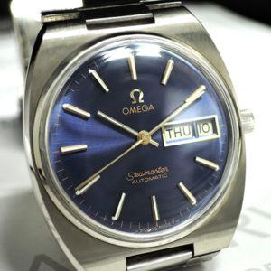 OMEGA シーマスター アンティークモデル メンズ腕時計 自動巻 青文字盤 【委託時計】