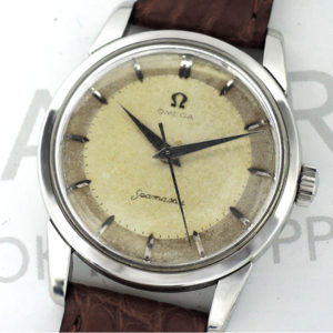 OMEGA シーマスター  アンティークモデル 男性用腕時計 自動巻 オリジナル茶革ベルト交換済 【委託時計】