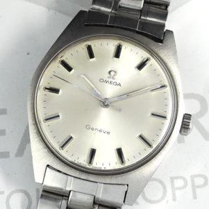 OMEGA ジュネーブ メンズ腕時計 自動巻 シルバー文字盤 【委託時計】