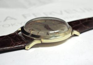 LONGINES アンティーク 14KGOLD 手巻き メンズ腕時計 シルバー文字盤 社外ベルト 【委託時計】