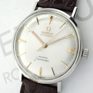 OMEGA マイスター シーマスター アンティーク メンズ腕時計 シルバー文字盤 自動巻 SS 純正新品ストラップ  【委託時計】