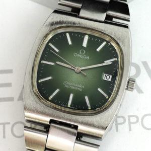 OMEGA シーマスター アンティーク メンズ腕時計 デイト 自動巻 グリーン文字盤 【委託時計】