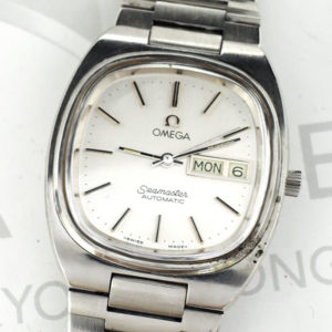 OMEGA シーマスター アンティーク メンズ腕時計 デイデイト 自動巻 シルバー文字盤 【委託時計】
