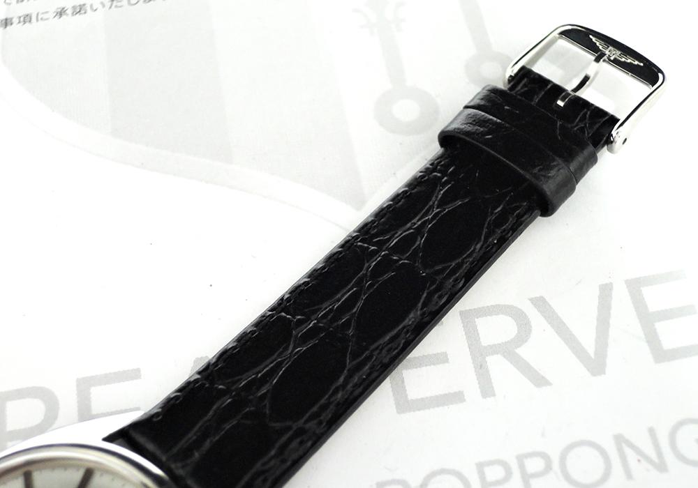 LONGINES アンティーク ステンレス 手巻き メンズ腕時計 シルバー文字盤 純正新品ストラップ 【委託時計】