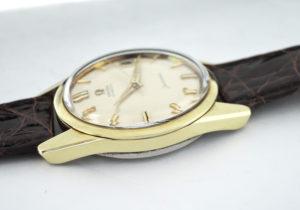OMEGA シーマスター アンティークモデル ヴィンテージ メンズ腕時計 自動巻 純正新品ベルト 本体のみ クリーム文字盤 【委託時計】