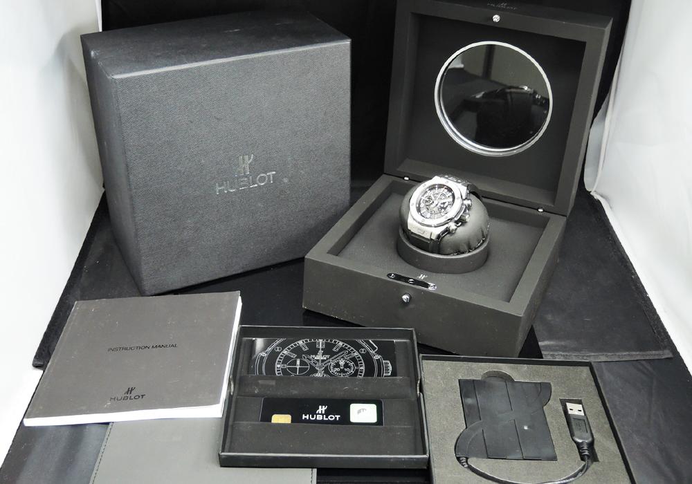 HUBLOT ビッグバン ウニコ チタニウム 411.NX.1170.RX 自動巻 フライバッククロノグラフ メンズ 腕時計 チタン ラバーストラップ 保証書 説明書 箱 【委託時計】