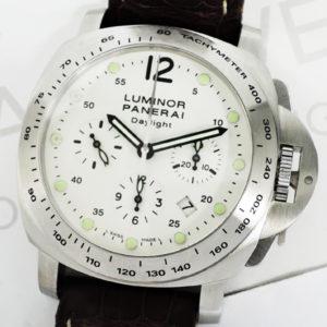 PANERAI ルミノールクロノ デイライト PAM00188 自動巻 ステンレス メンズ腕時計 タキメーターベゼル 箱 保証書 説明書 【委託時計】