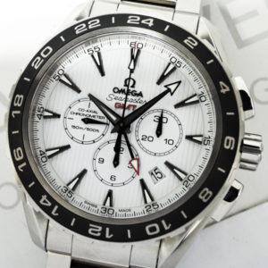 OMEGA シーマスター アクアテラ GMT クロノグラフ 231.10.44.52.04.001 メンズ腕時計 白文字盤 自動巻 ステンレス 44.0mm シースルーバック 【委託時計】