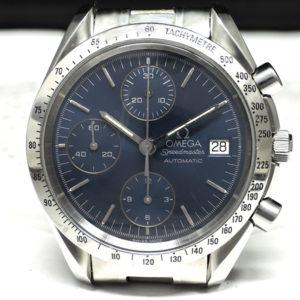OMEGA スピードマスターデイト 3511.80 クロノグラフ 青文字盤 自動巻き ステンレス メンズ腕時計 【委託時計】
