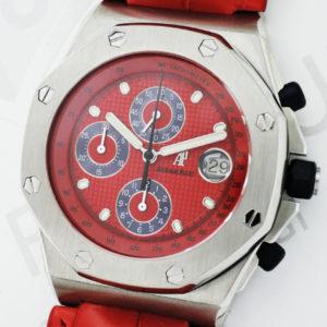 AUDEMARS PIGUET ロイヤルオーク オフショア クロノグラフ レッド 25770ST.0.0009.04 自動巻 レザーストラップ ステンレス メンズ 腕時計 箱 【委託時計】