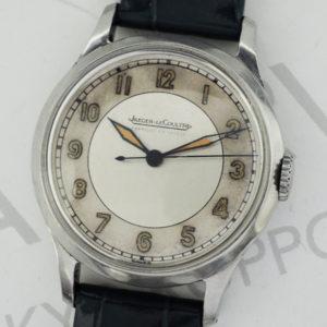 JAEGER LECOULTRE アンティーク腕時計 手巻 SSx青革 ベルト新品交換済 【委託時計】