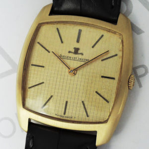 JAEGER LECOULTRE トノー アンティーク ヴィンテージ 腕時計 手巻 18K アリゲーターストラップ 箱 【委託時計】