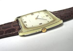 OMEGA デビル DE VILLE アンティーク ヴィンテージ メンズ腕時計 手巻き シルバー文字盤 オメガ純正新品ストラップ 【委託時計】